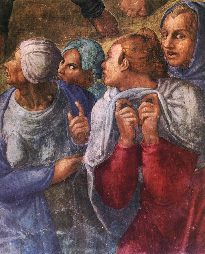 Микеланджело Буонарроти. Распятие Святого Петра (фрагмент)