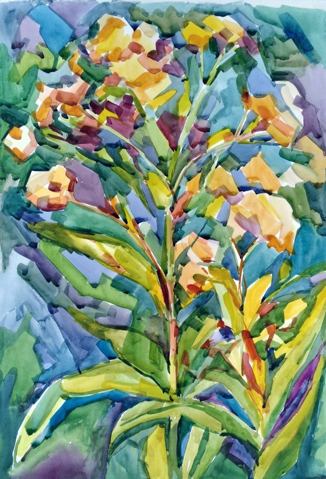 Lilia Georgievna Evsyukova. Blooming horseradish