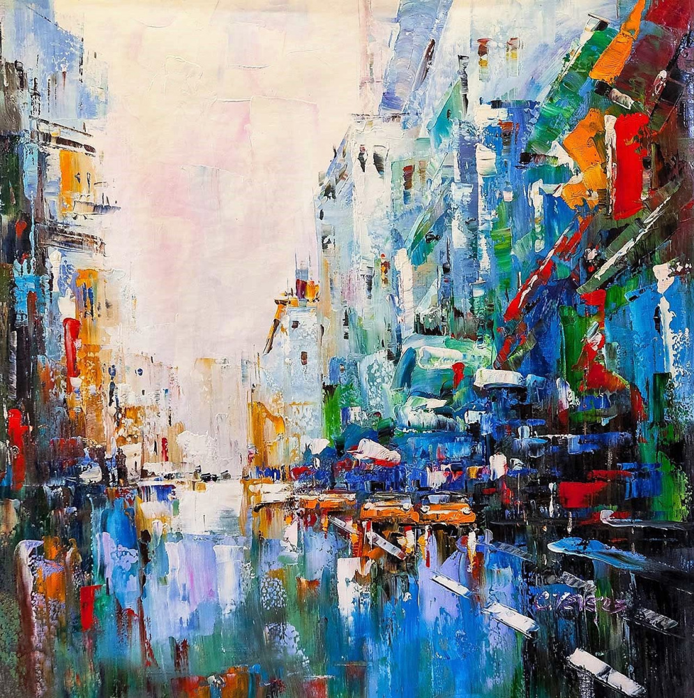 (no name). Multicolored city N2