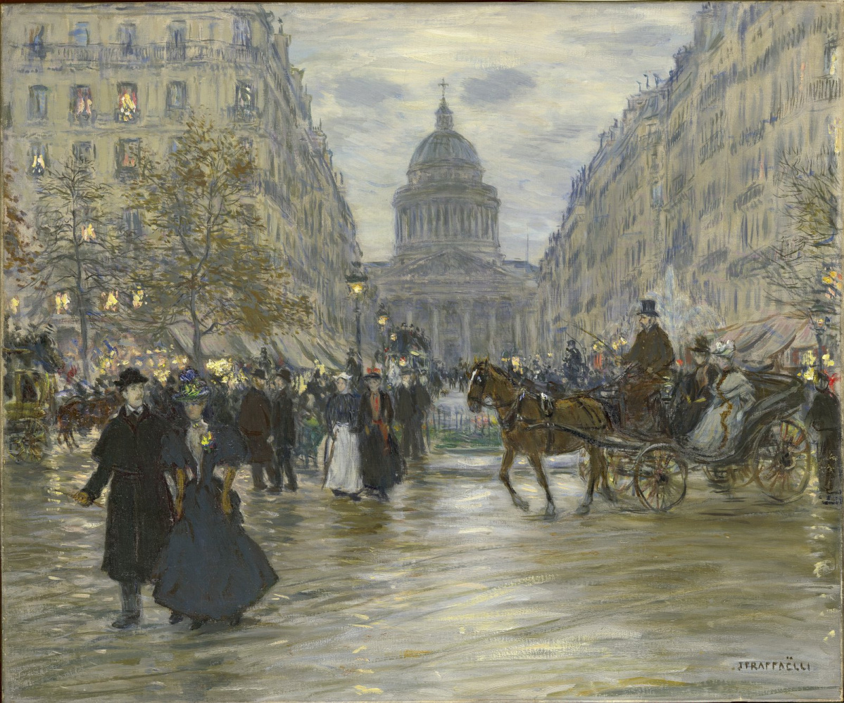 Jean-François Raffaelli. Boulevard Saint-Michel