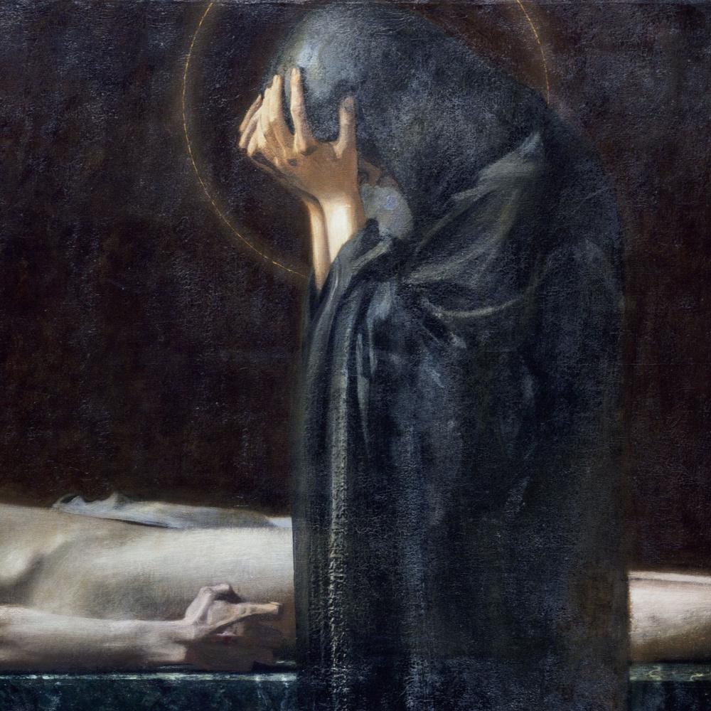 Franz von Stuck. Pieta. 1891 Detail