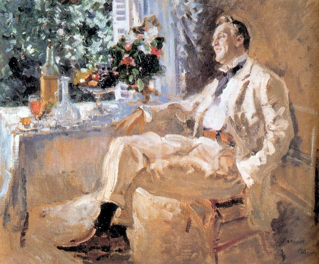 Konstantin Alekseevich Korovin. Portrait of the artist Feodor Chaliapin