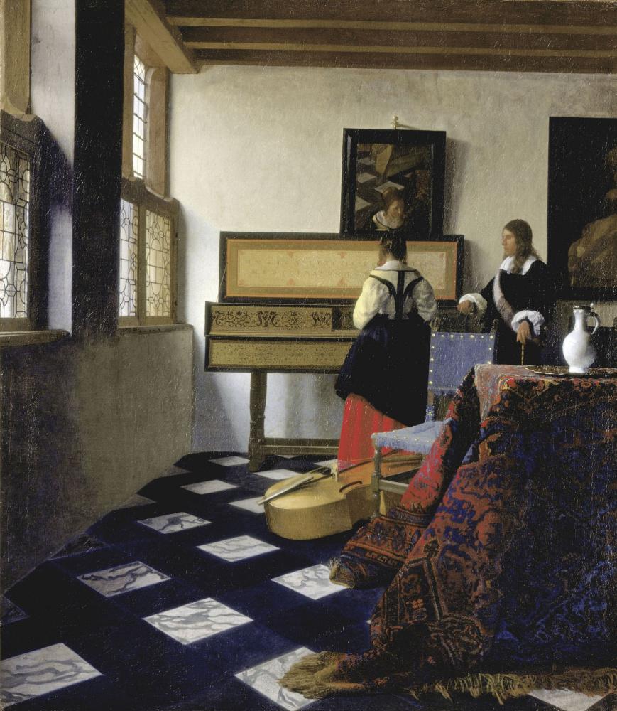 Jan Vermeer. Music lesson