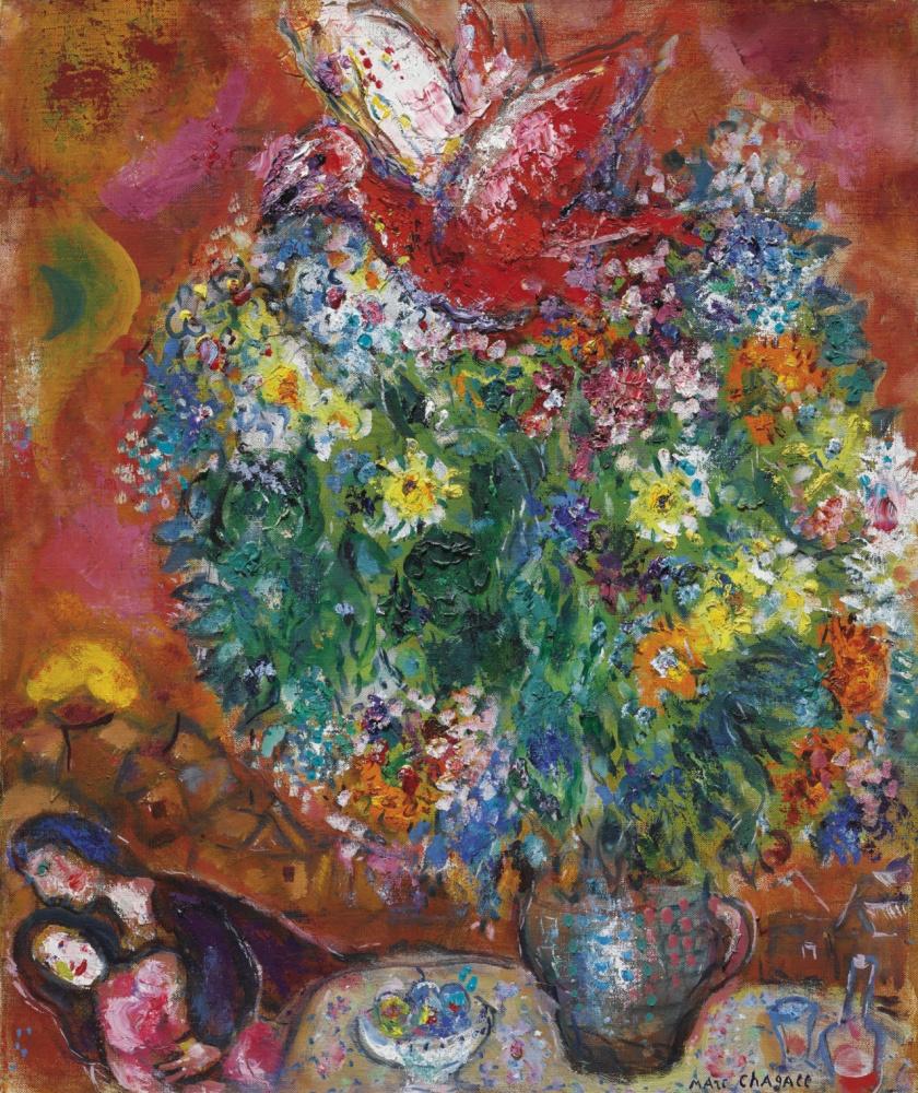 Марк Захарович Шагал. Цветы и любовники