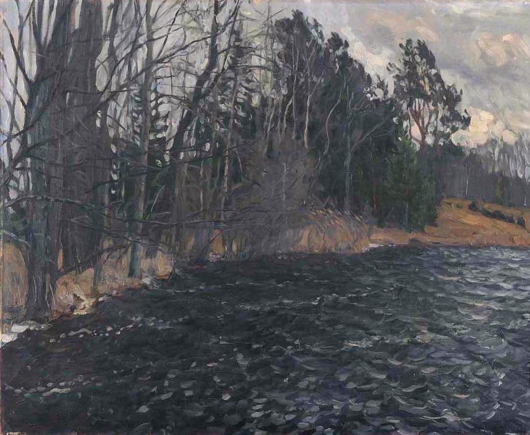 Станислав Юлианович Жуковский. Берег реки
