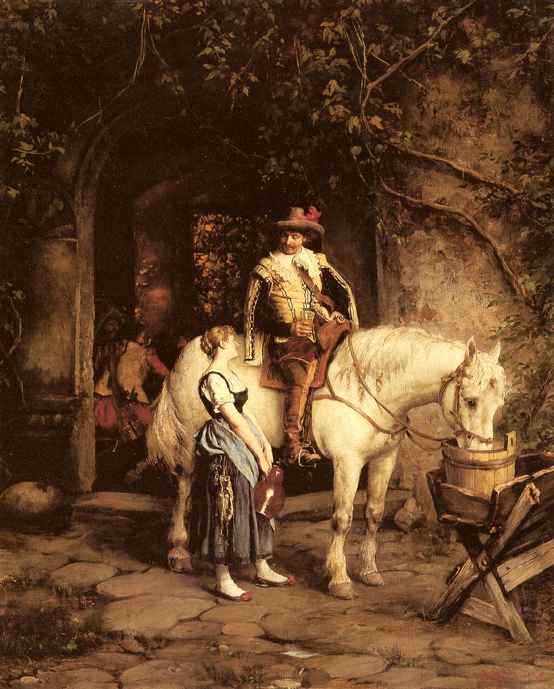 Emil Rau. In the tavern