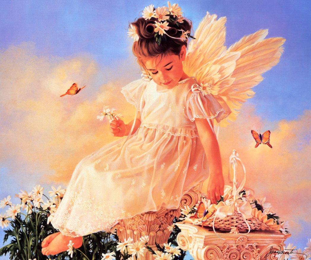 Картинка с добрым утром ангелочек, красивые