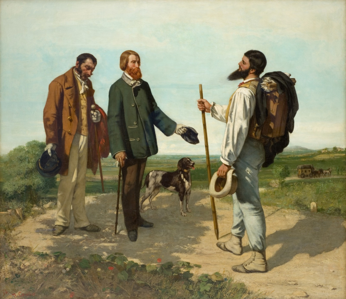 Gustave Courbet. Hello Mr. Courbet