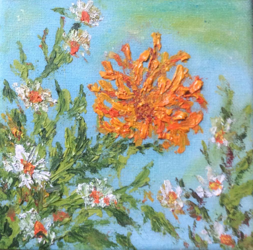 Rita Arkadievna Beckman. Chrysanthemums and Daisies