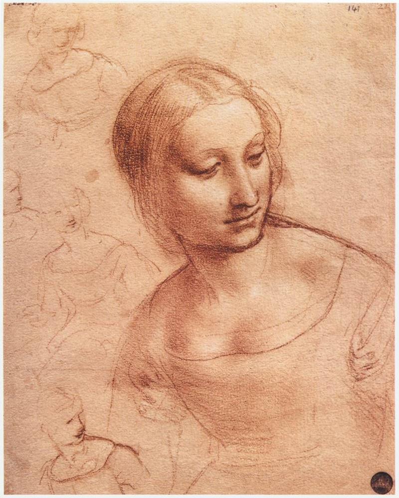 Леонардо да Винчи. Мадонна с веретеном (набросок)