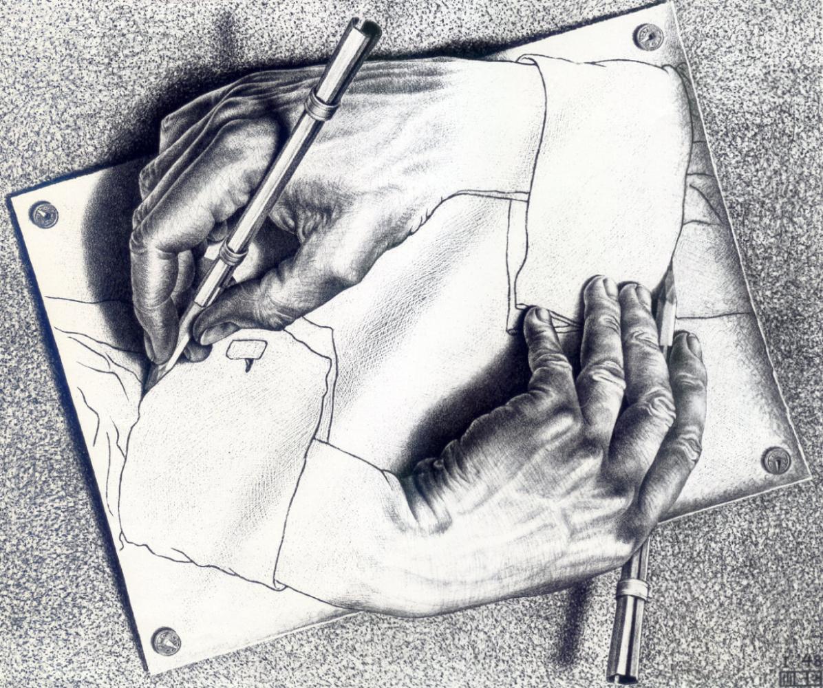 Maurits Cornelis Escher. Drawing hands