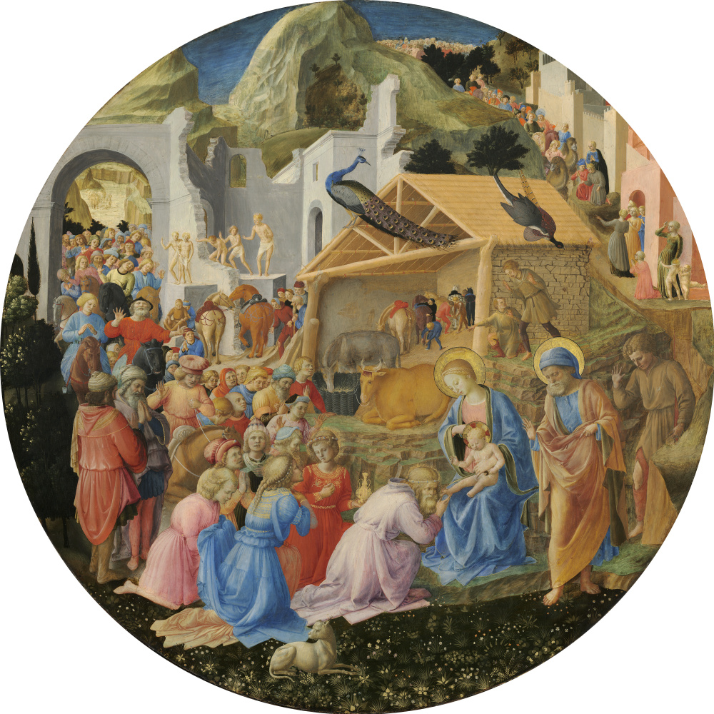 Fra Beato Angelico. Adoration of the Magi (with Fra Filippo Lippi)