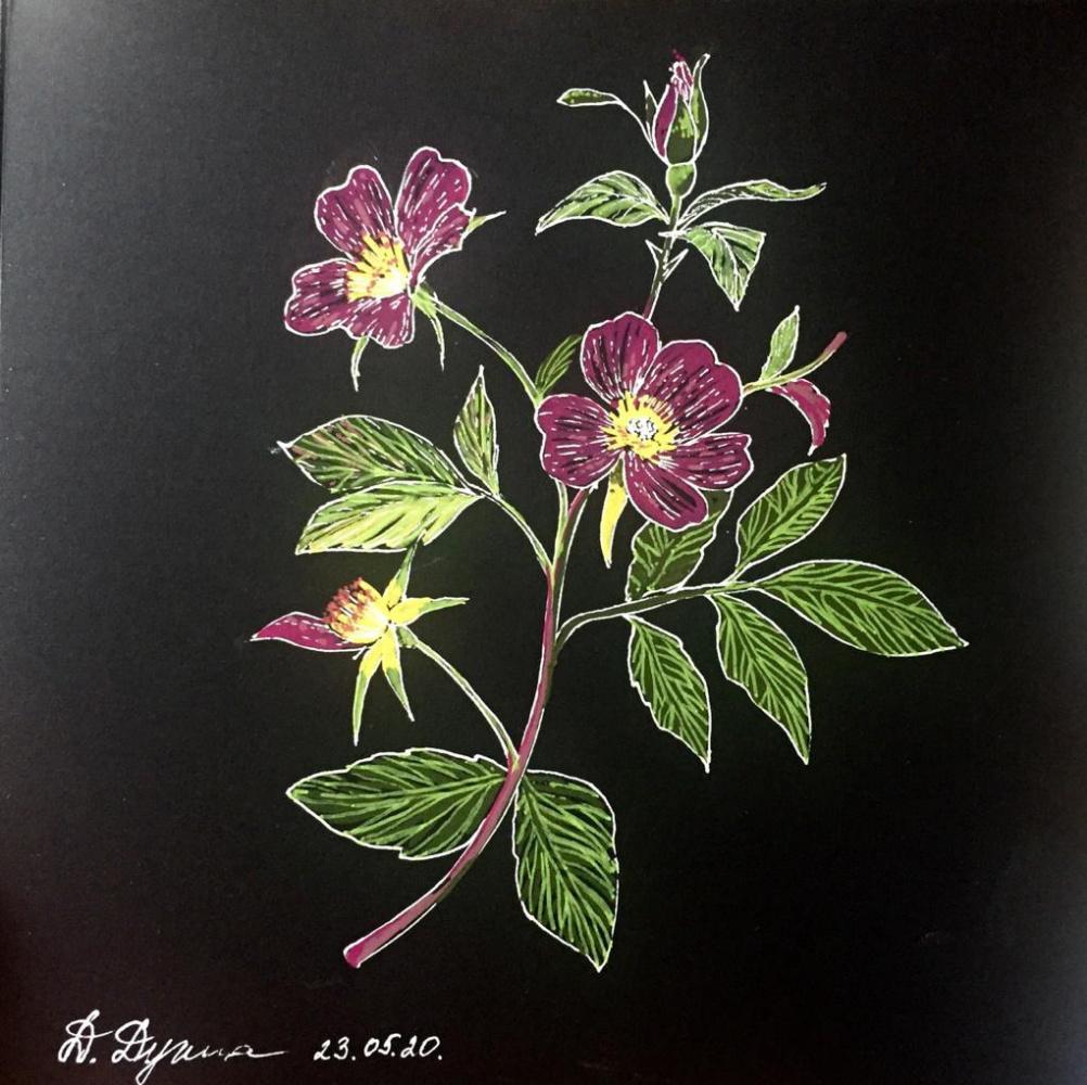 Daria Dugina. Flowers2