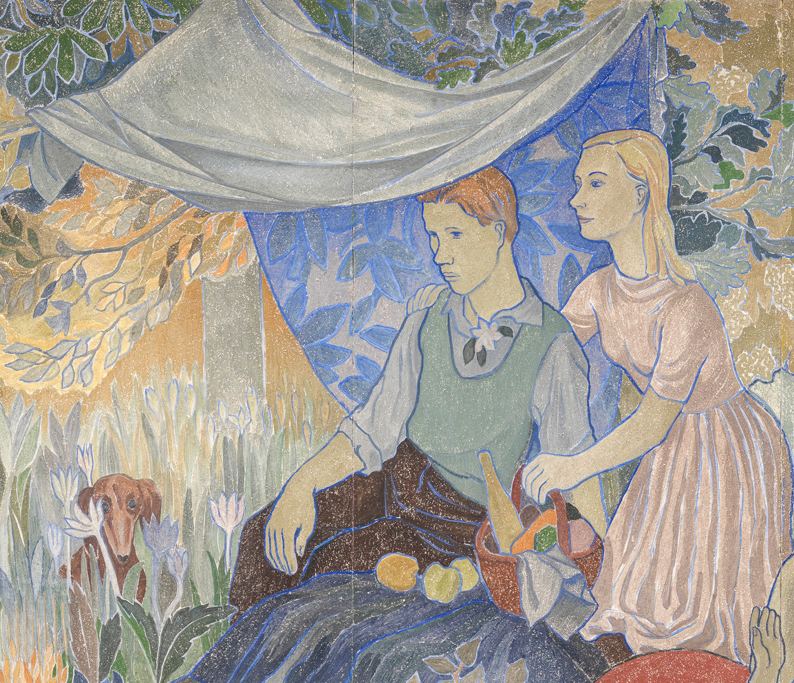 Tove Jansson. Holiday in the village. Fragment. Picnic under a canopy
