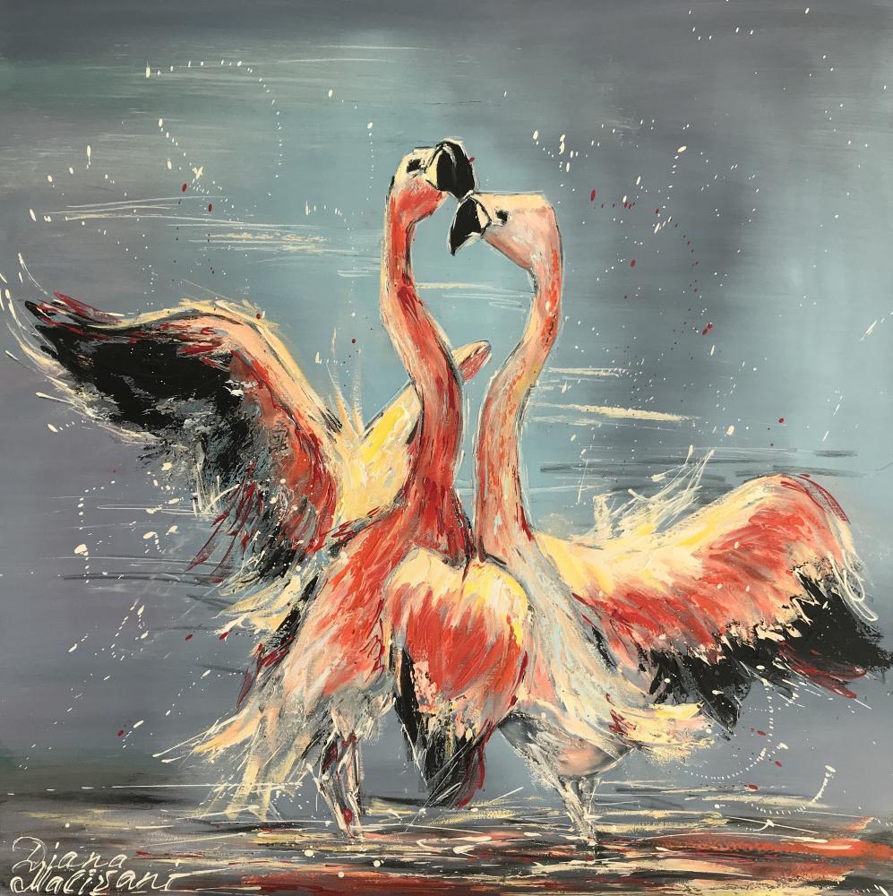 Диана Владимировна Маливани. Dance of Pink Flamingoes