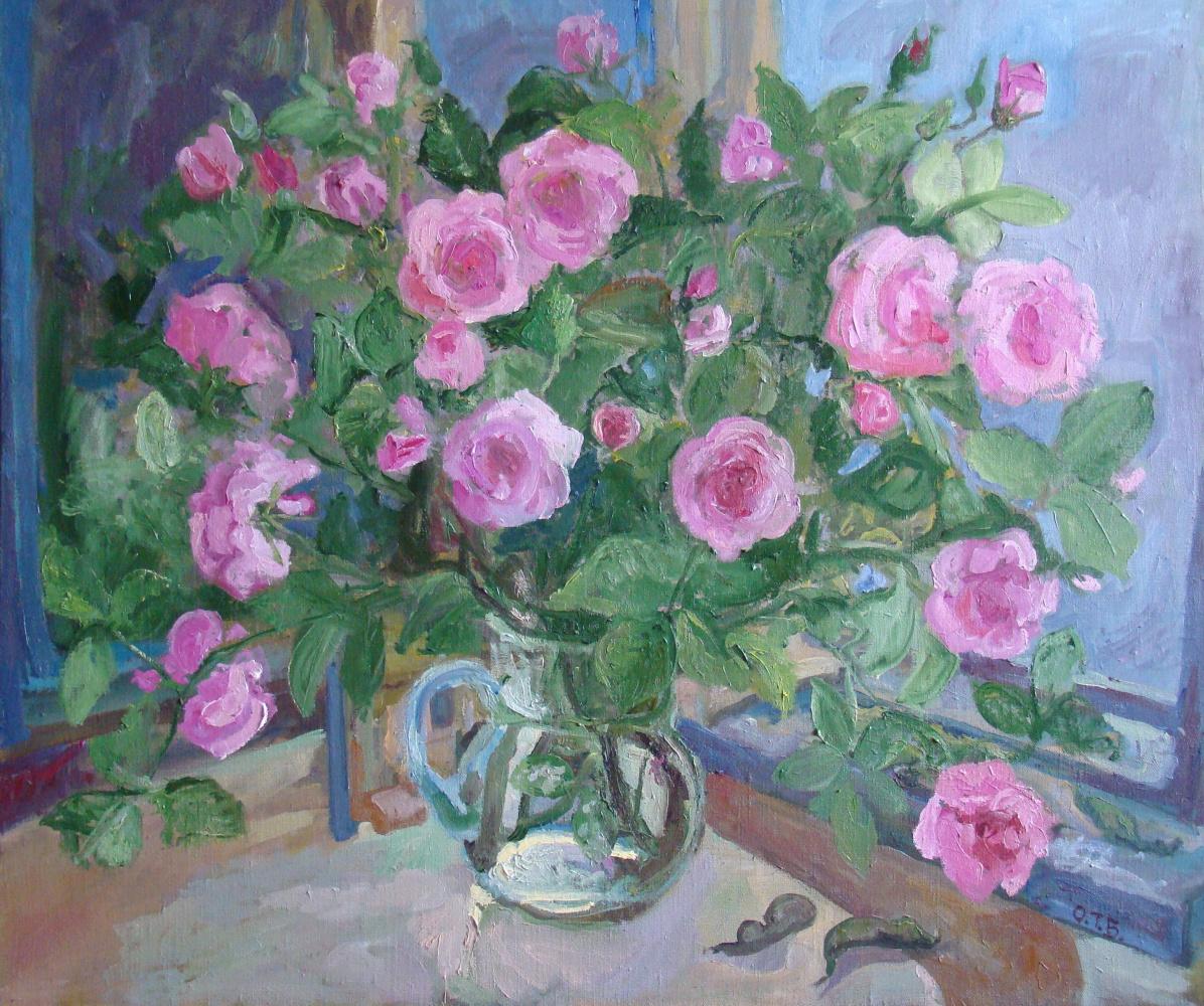 Tatyana Grigorievna Beregeiko. Roses.