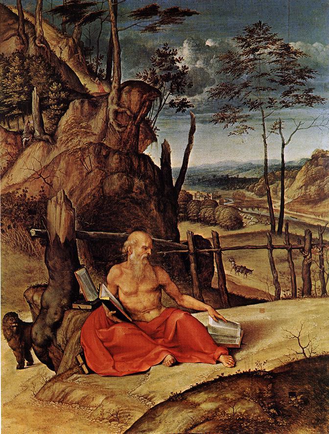 Лоренцо Лотто. Св. Иероним в пустыне