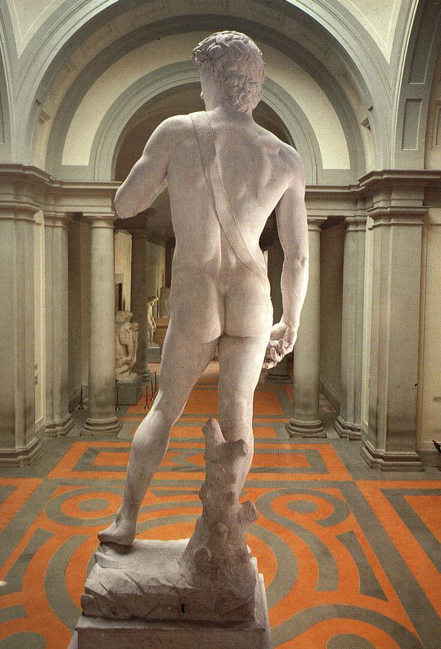 Микеланджело Буонарроти. Давид. Вид сзади.