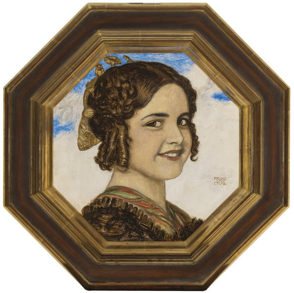 Franz von Stuck. Portrait of the artist's daughter Marie von Stuck.