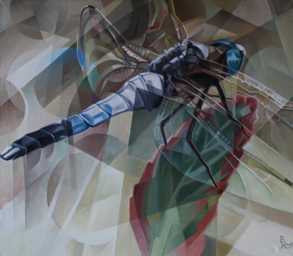 Vasily Krotkov. Microcosm. Post-Cubo-Futurism