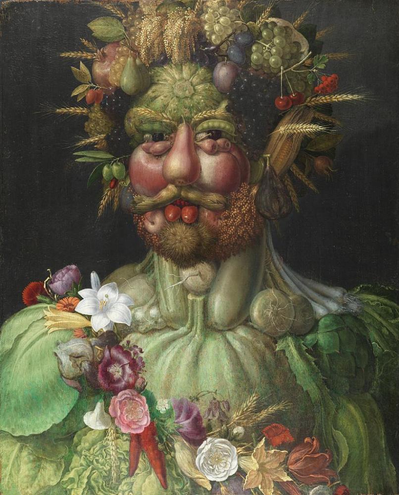 Джузеппе Арчимбольдо. Вертумн. Портрет императора Рудольфа II в образе Вертумна