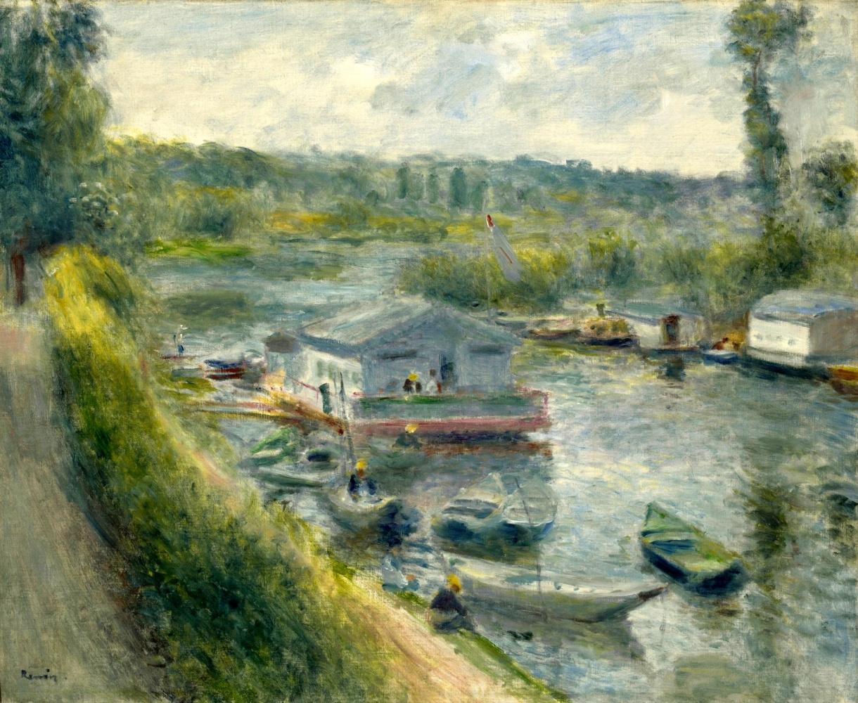 Pierre-Auguste Renoir. Floating Laundry at Ba-Medon