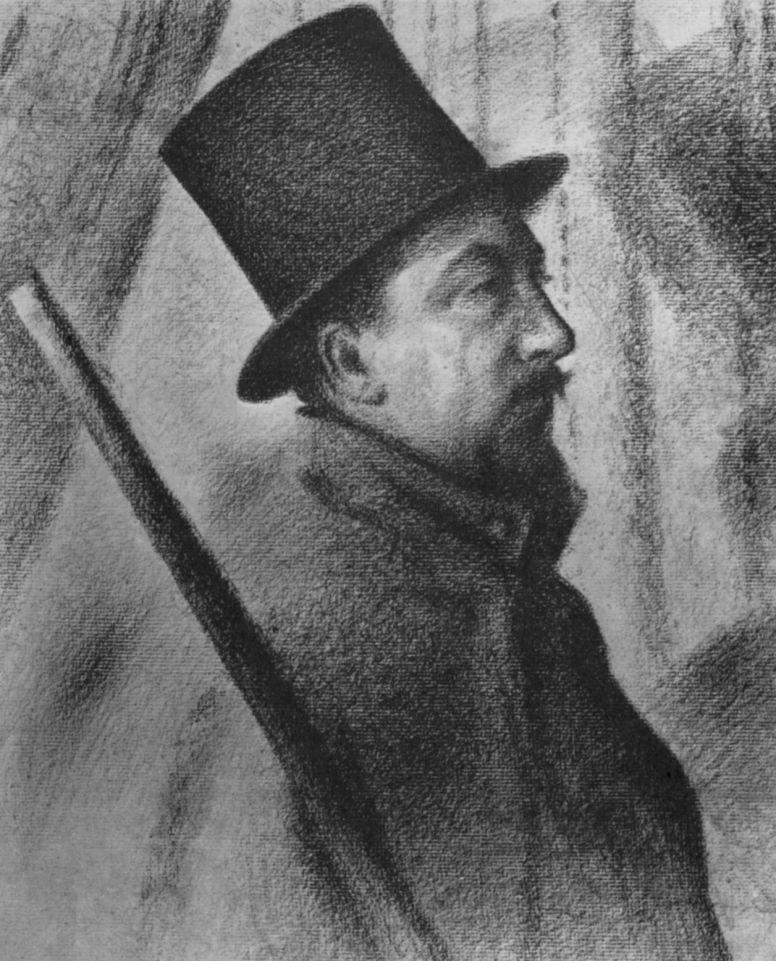 Жорж Сёра. Портрет Поля Синьяка