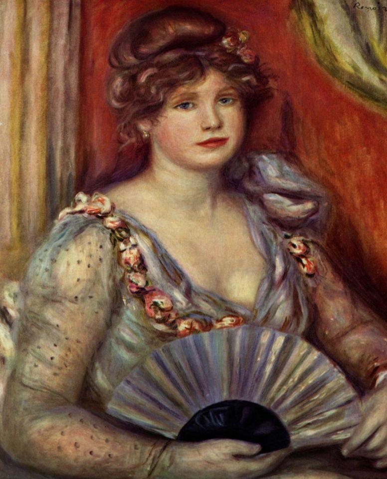 Pierre-Auguste Renoir. Lady with fan