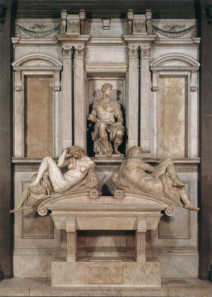 Микеланджело Буонарроти. Гробница Джулиано Медичи.