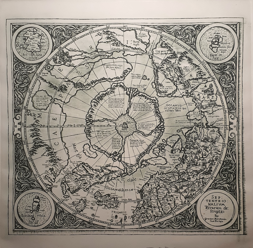Igor Alexandrovich Chernyshov. Map of the legendary Hyperborea by the city of Mercator (1594)
