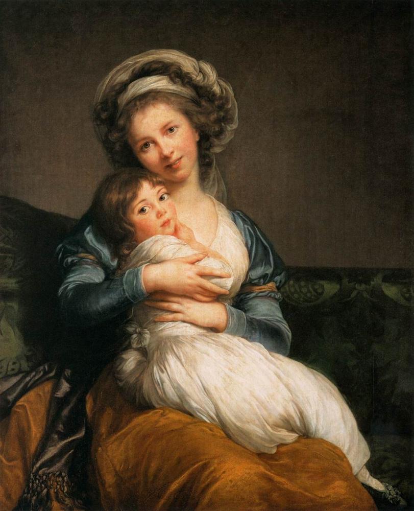 Элизабет Виже-Лебрен. Автопортрет с дочерью