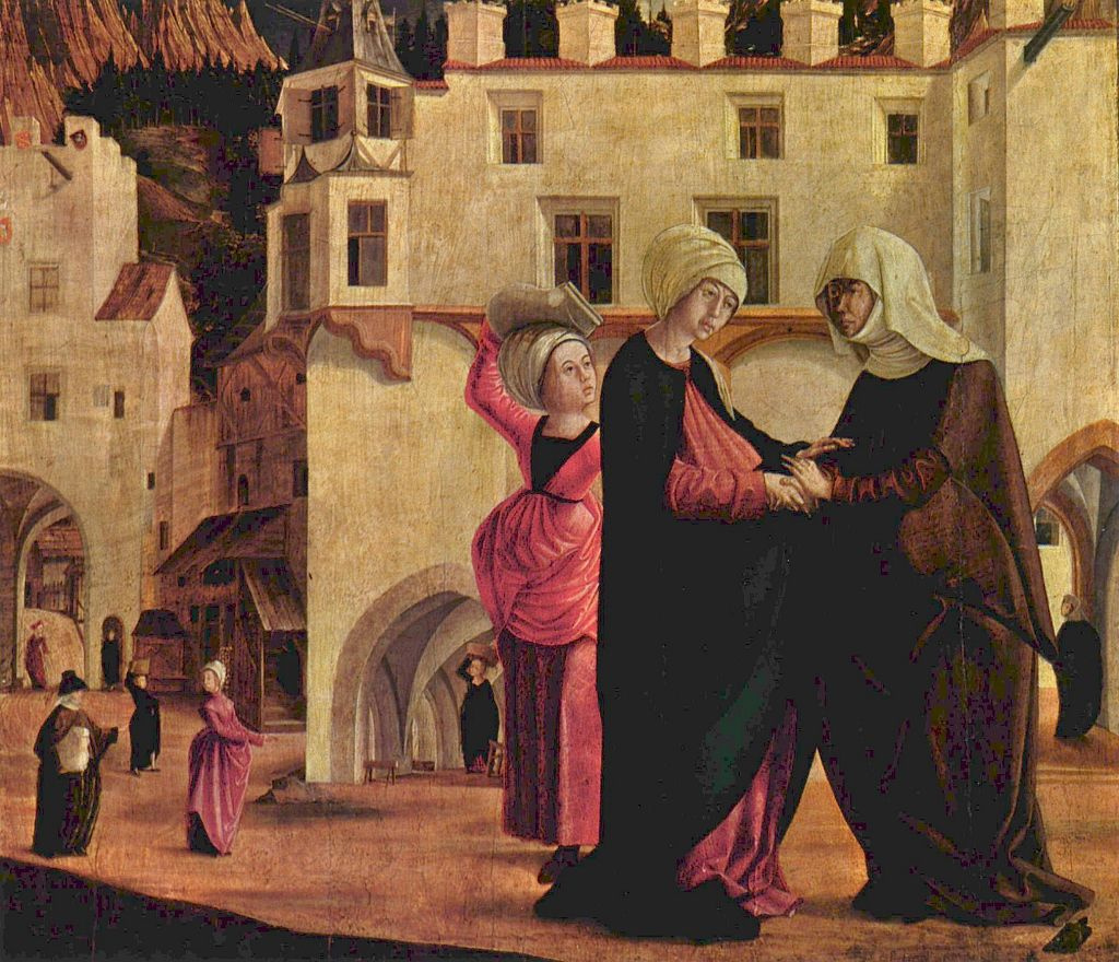 Marx Reichlich. The altar of the virgin, scene: Meeting of Mary and Elizabeth