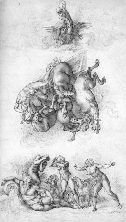 Микеланджело Буонарроти. Падение Фаэтона.