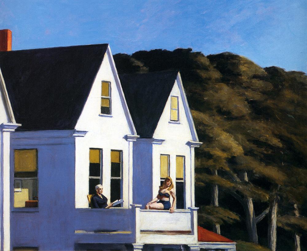 Edward Hopper. The sunlight on the second floor