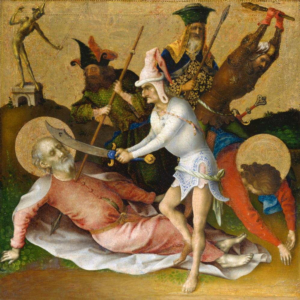Stefan Lochner. The Martyrdom of Saints Simon and Judas Thaddeus.