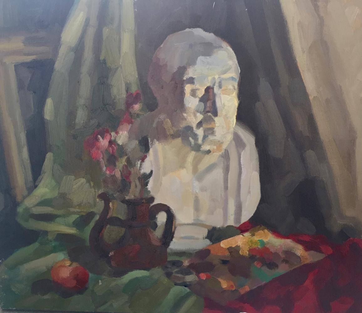 Angelika Romanovna Vlasova. Натюрморт с палитрой