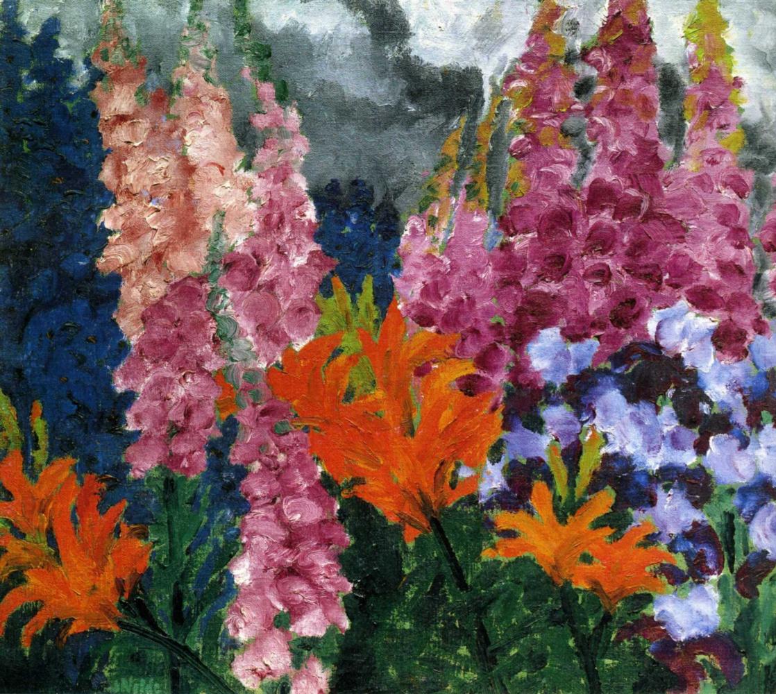 Emil Nolde. The flowers in the garden