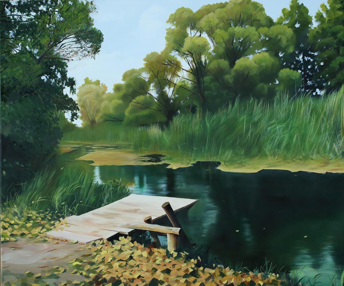 Andrey Sergeevich Khmelevsky. Rural pond