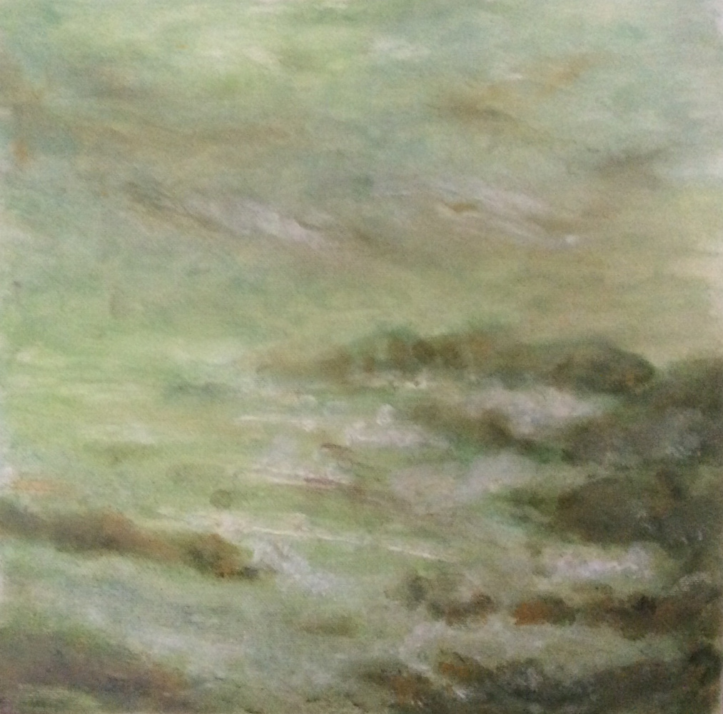 """Rita Arkadievna Beckman. """"... And the wind, and the rain, and the gloom / Over the cold desert of water ..."""" (I. Bunin) '"""