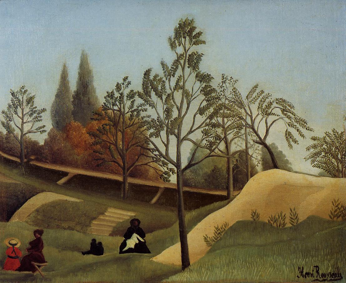 Henri Rousseau. In the meadow