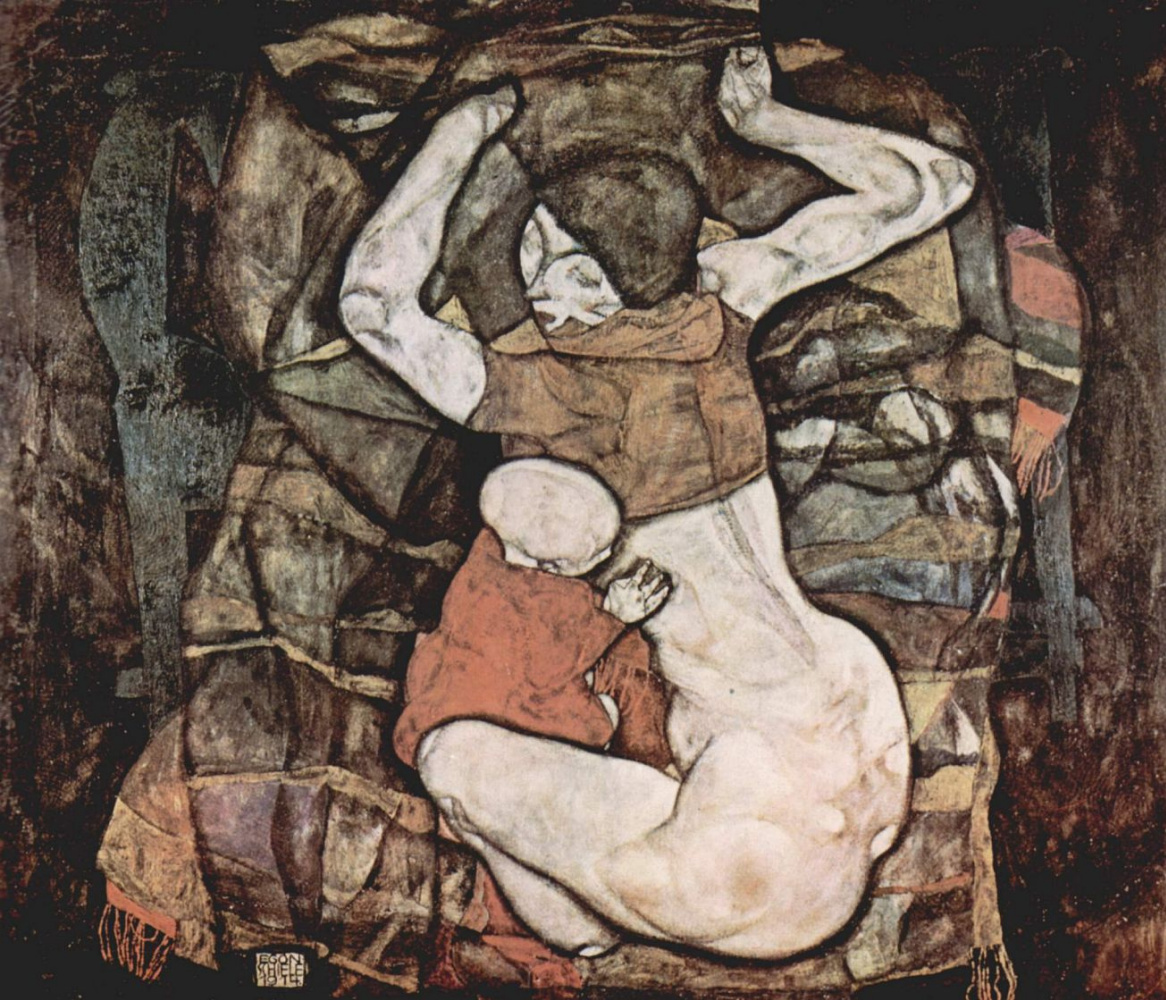 Egon Schiele. A young mother