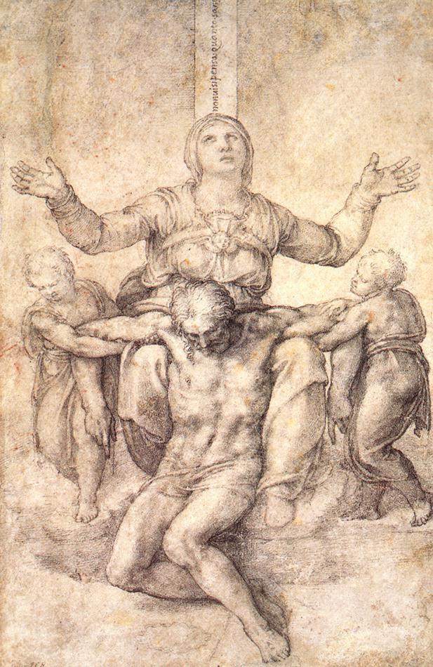 Микеланджело Буонарроти. Этюд к Колонна Пьета