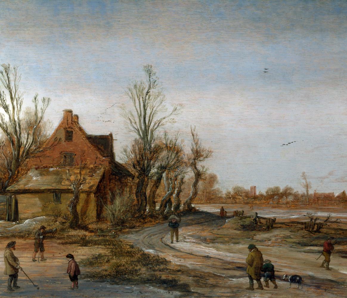 Ван де Вельде Исаия. Зимний пейзаж