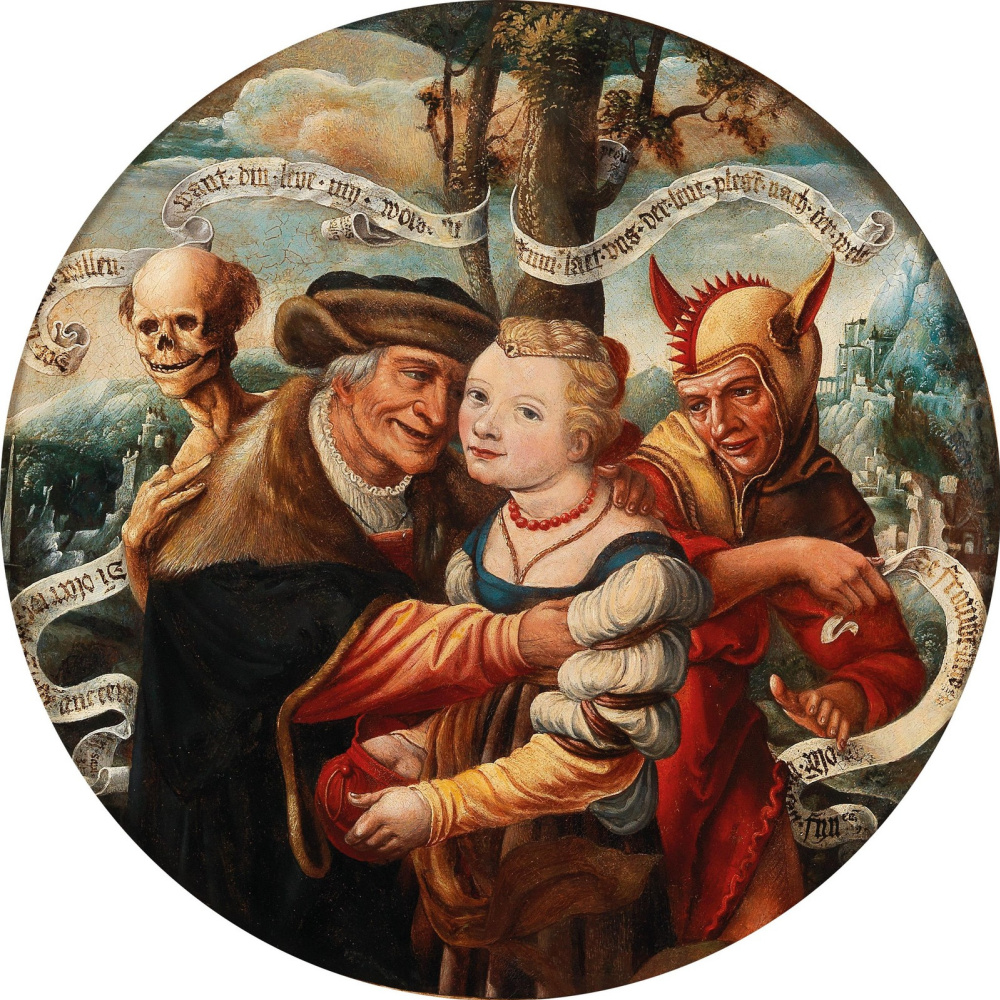 Unknown artist. Unequal pair. XVI century