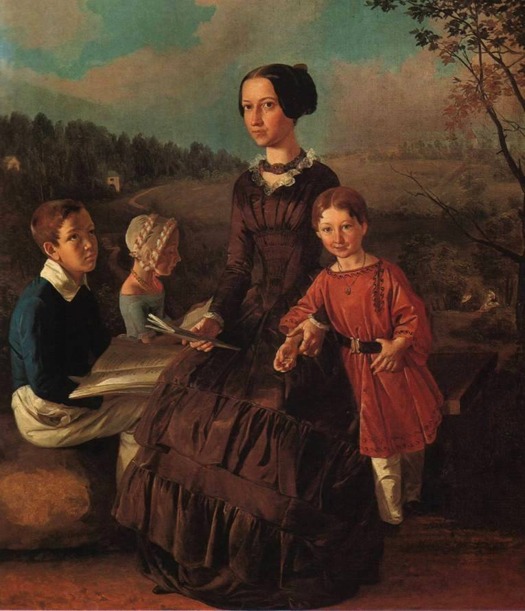 Ivan Fomich (Trofimovich) Khrutsky. Family portrait