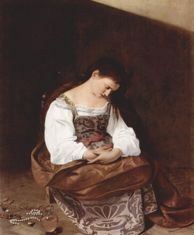 Микеланджело Меризи де Караваджо. Кающаяся Мария Магдалина