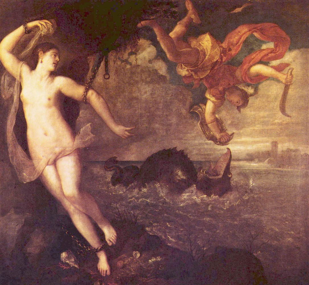 Titian Vecelli. Perseus and Andromeda