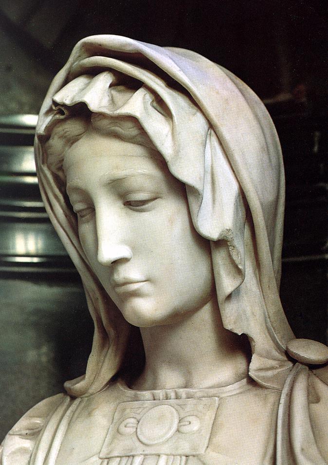 Michelangelo Buonarroti. Madonna Of Bruges. Fragment