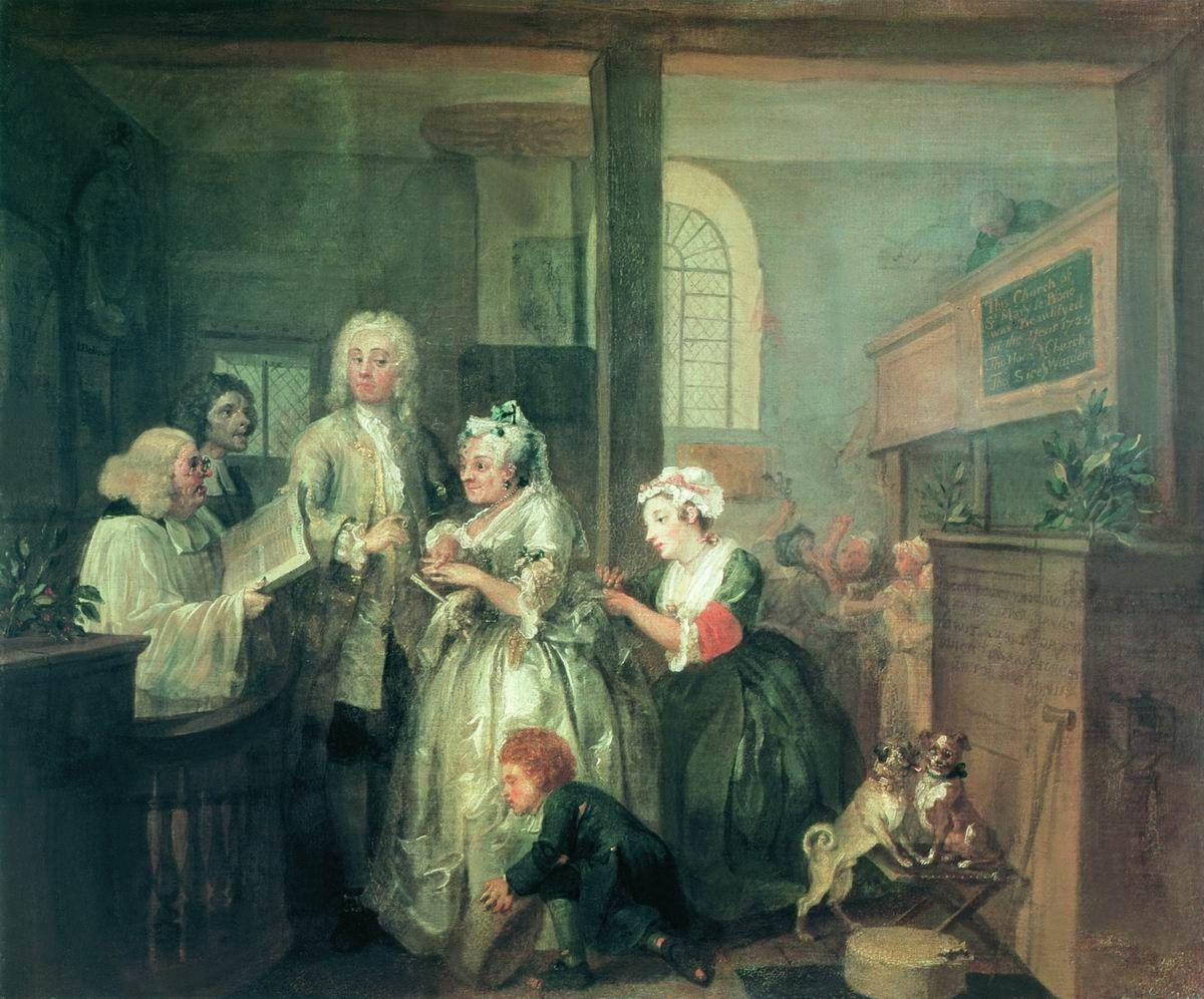 William Hogarth. Mota's career. Marrying the widow