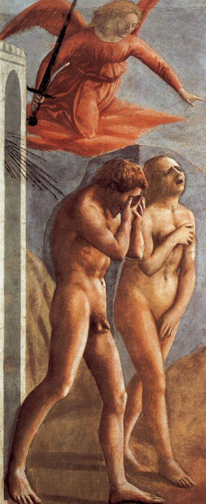 Томмазо Мазаччо. Изгнание Адама и Евы из земного рая